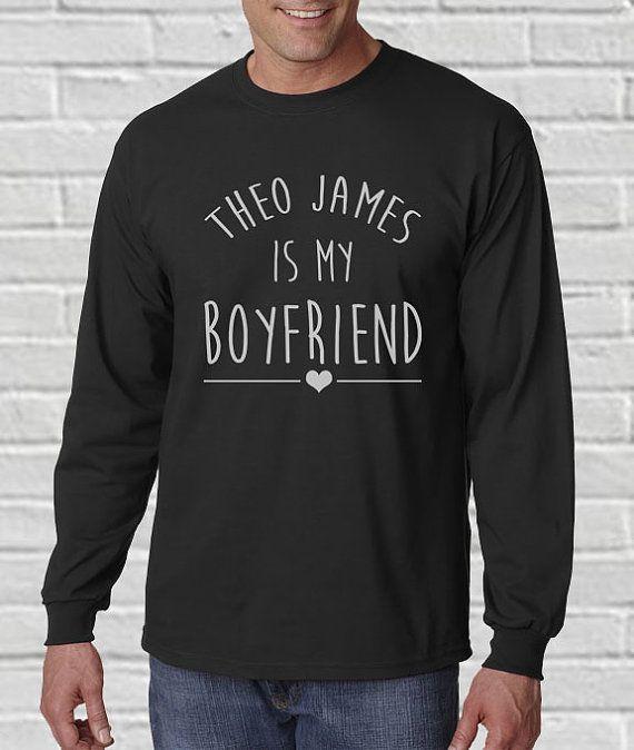 Theo James Is My Boyfriend Shirt Long Sleeve Shirt Tee by ...