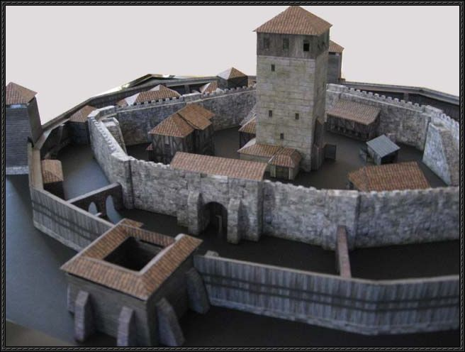 Medieval Castle And Other Building Paper Models Free