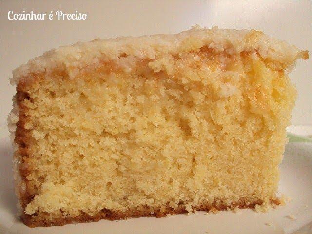 Bolo Branco com Cobertura de Coco | Cozinhar é preciso !: Humm Delicias, Coverage, Coconut