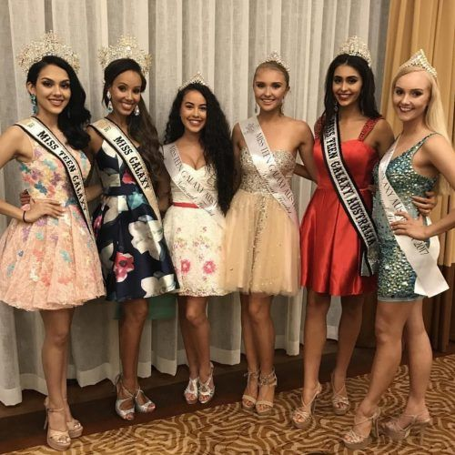 Queens and finalists at the Miss Teen Galaxy Australia pageant orientation. Photo courtesy: Bonita Sorrentino