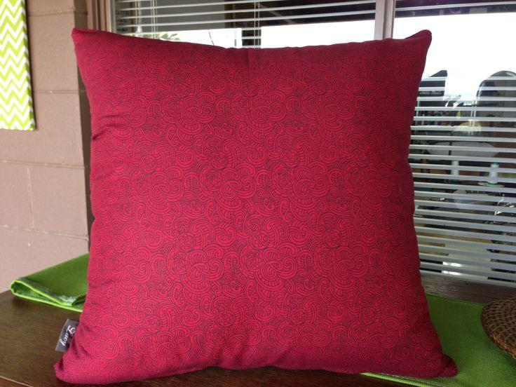 Maori design cushion kiwiana by lucy