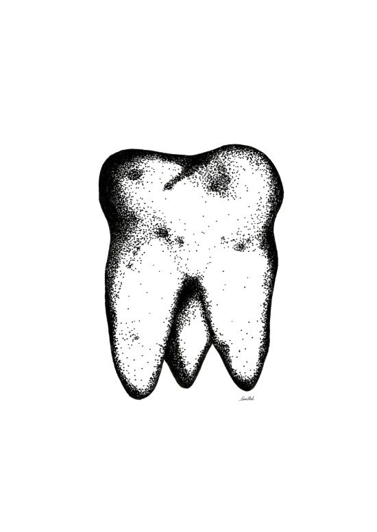 Tooth.  Art Print
