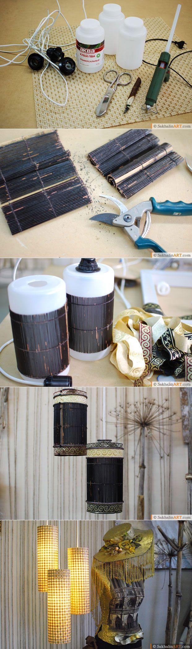Светильники из банок от ПВА   Сахалин АРТ