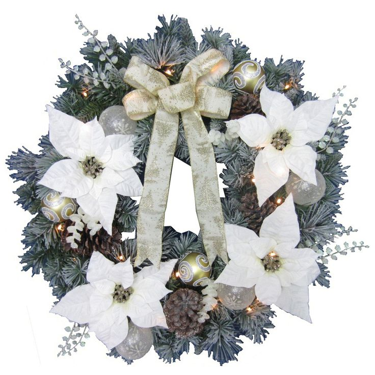 Holiday Living 30 in Pre Lit Indoor Outdoor Poinsettia Artificial Christmas  Wreath withBest 25  Artificial christmas wreaths ideas only on Pinterest  . Outdoor Wreath With Led Lights. Home Design Ideas