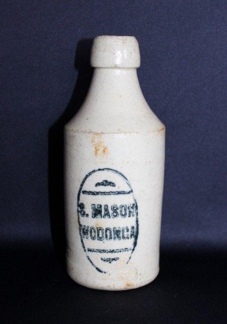 S MASON Wodonga Ginger Beer Bottle C1890's #Bottles