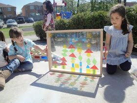 This outdoor activity is a great way to understand how light works to cast shadows and reflect colours.