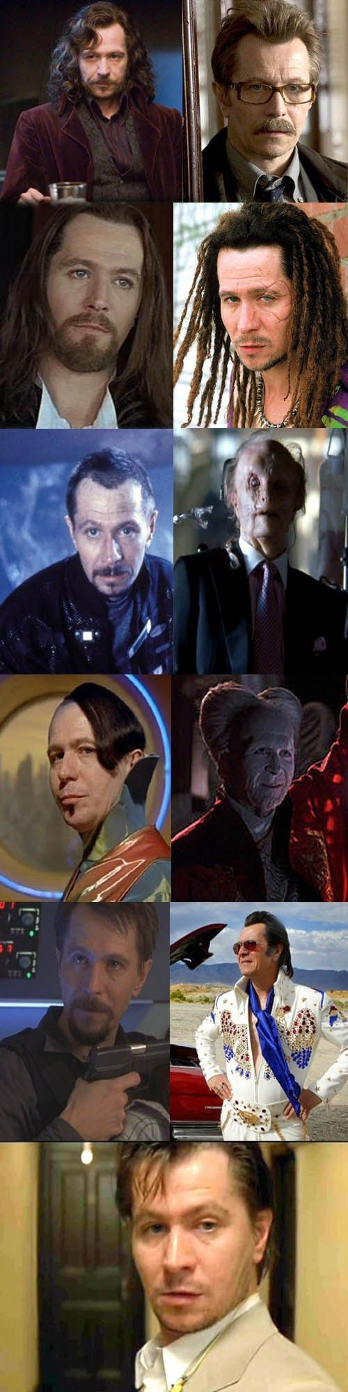 "Gary Oldman Doesn't Know the Meaning of ""Typecast"" // I loved him in the 5th Element - perfect bad guy/comic"