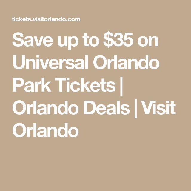 Save up to $35 on Universal Orlando Park Tickets | Orlando Deals | Visit Orlando