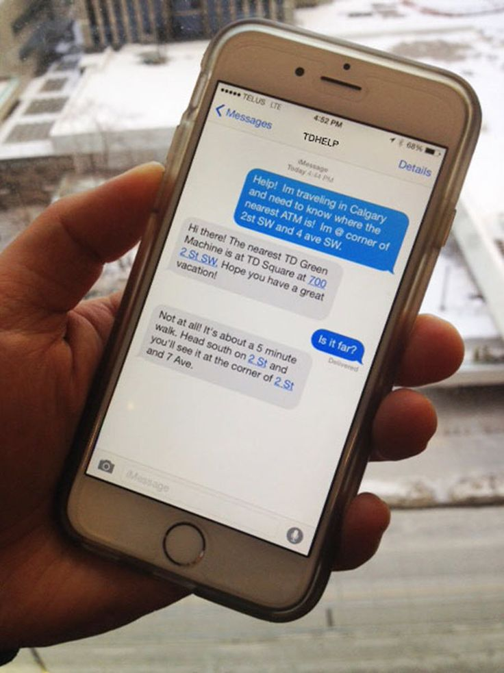 Have a Question for TD Bank? You Can Now Get Help via SMS Text Message!