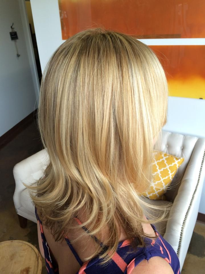Blonde With Brown Lowlights From The Inspiration Hairstyle