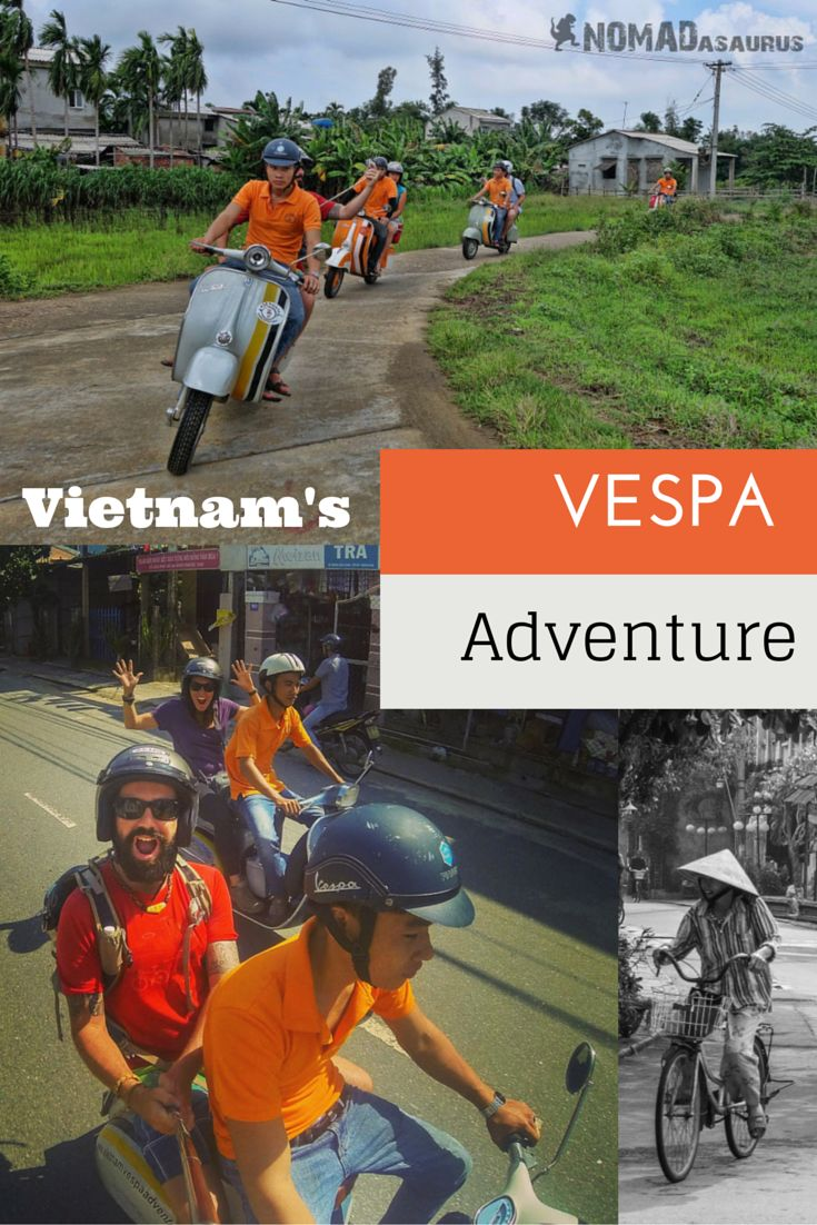 One of the best things to do in Hoi An is go on a Vespa tour around the city. Jump on a scooter and explore the most unique attractions in Vietnam. #vietnam #vespa #southeastasia #hoian