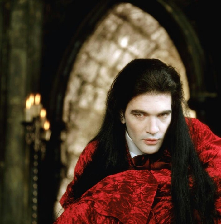 "Antonio Bandaras is ancient vampire coven leader Armand in ""The Interview with the Vampire"". (1994)"