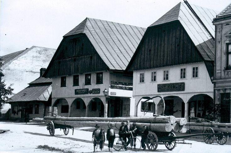 Vamberk - staré domy na náměstí