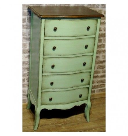 MELLOW commode, 5 tiroirs, olive