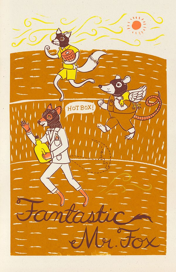 Fantastic Mr. Fox (2009) ~ Alternative Movie Poster by Heather Lund #amusementphile