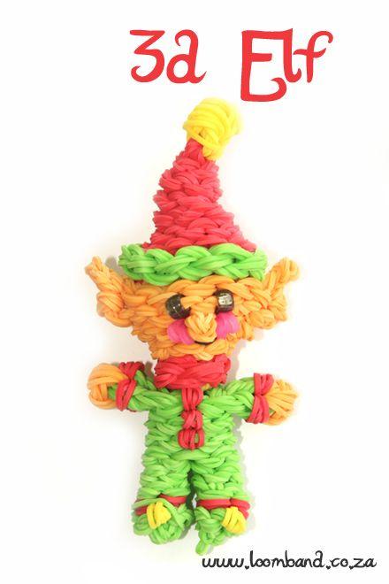 3D Happy Elf loom band tutorial,http://loomband.co.za/3d-happy-elf-loom-band-tutorial/