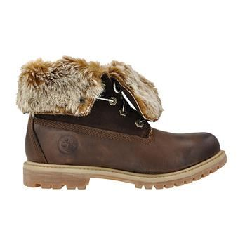 TIMBERLAND EARTHKEEPERS AUTHENTICS FAUX FUR FOLD DOWN #femme #boots #shoes #timbs #Nantes #shopnantes #8321A #fourrure #brown