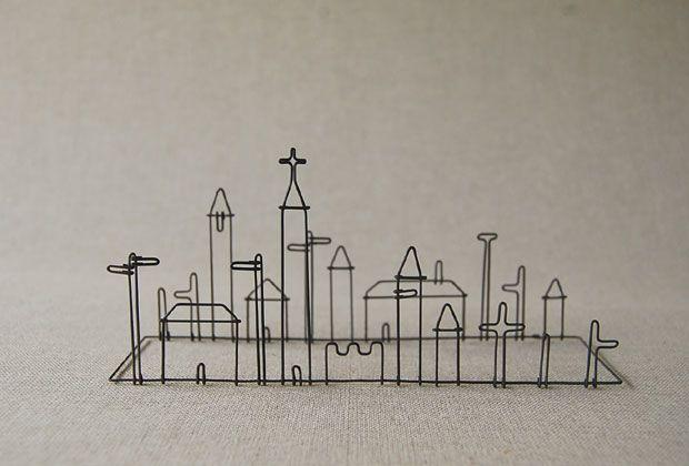 church - wire sculpture by Masao Seki Wire Works  ¥3,900 #sculpture