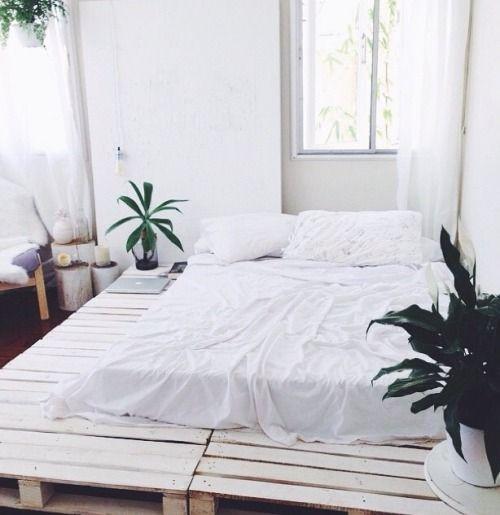 Do you need a bed frame? Do you love pallet boards? Why not make a bed frame from pallet boards?   DunnDIY.com   #DunnDIY #DIY #inspiration