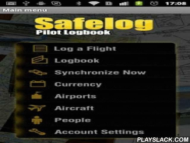 Safelog Pilot Logbook  Android App - playslack.com ,  Safelog is world's most trusted and versatile pilot logbook system - used by student and recreational pilots through senior airline captains and military pilots worldwide. Stay CURRENT, ORGANIZED, and LEGAL! It's a powerful, proven, integrated, and easy to use system in use by tens of thousands of pilots worldwide from Cessna 150s and Robinson R22s through Boeing 787s and Airbus A380s. With its polished user experience, tons of useful…