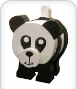 Wooden Toy Panda from Kitcraft Cubbyhouses