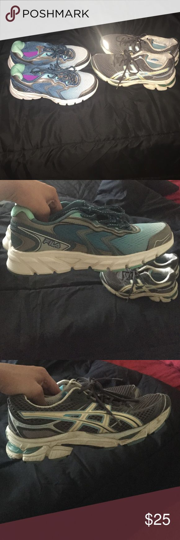 Fila running shoes and IGS running shoes FILA running shoes are still new worn twice size 7. IGS Running shoes are in decent condition really comfy! Size 8... FILA $25 or $10 for IGS. Offer price if both wanted Shoes Sneakers