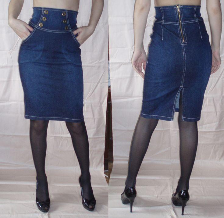 выкройка джинсовой юбки