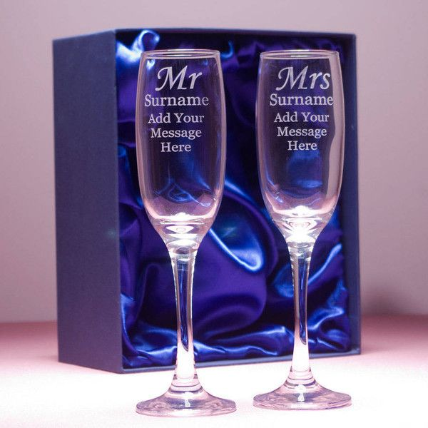 GiftsOnline4U Mr And Mrs Personalised Champagne Flutes ($51) ❤ liked on Polyvore featuring home, kitchen & dining, drinkware, engraved wedding champagne flutes, engraved champagne flutes, wedding champagne glasses, engraved champagne glasses and wedding champagne flutes