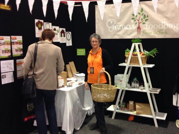 Our team member Connie at our stall at The Great NZ Food Show 2015