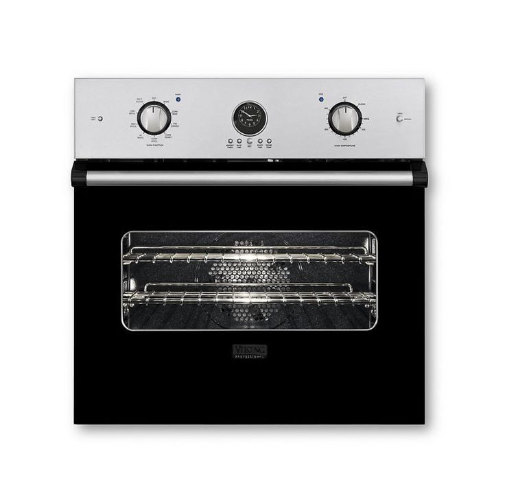 Viking VESO5272 27 Inch Wide 3.6 Cu. Ft. Single Electric Oven with Vari-Speed™ D Black Ovens Electric Single