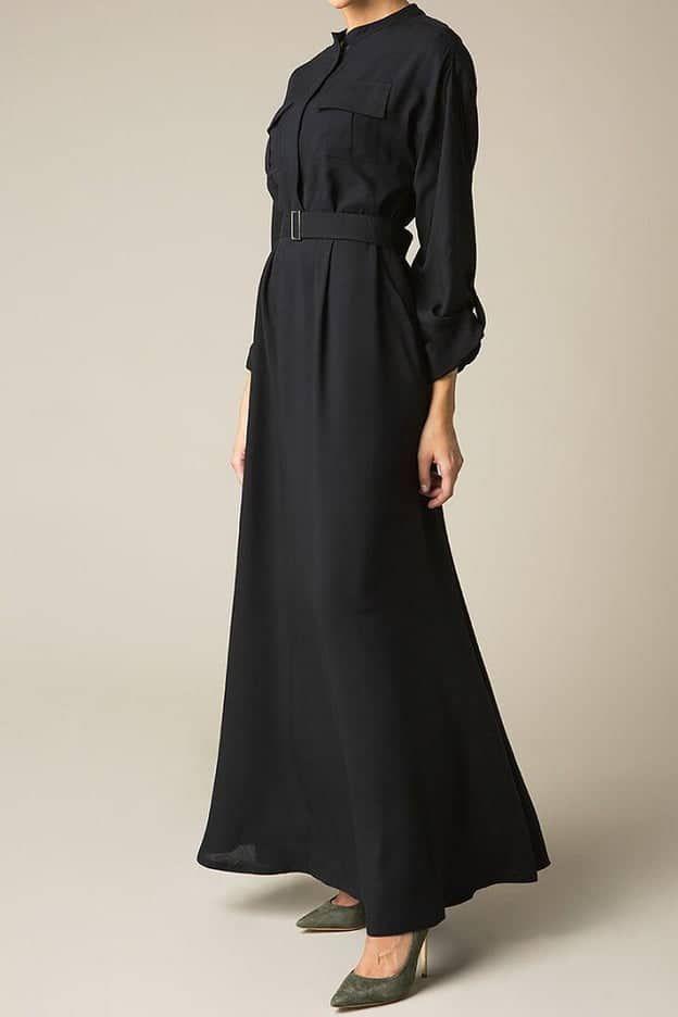 عبايات سوداء من توقيع هناء الحريري لرمضان 2019 Fashion Long Sleeve Dress Dresses