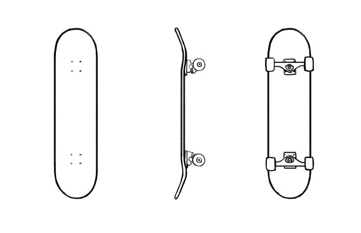 skateboard sketch - Sök på Google