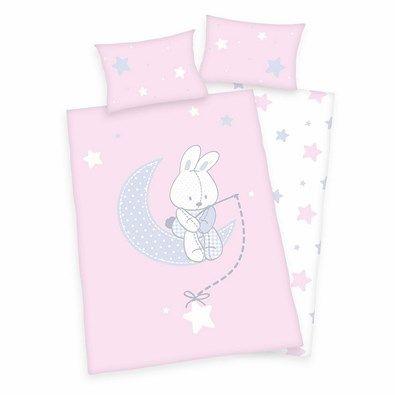 Pościel dla dzieci do łóżeczka Jana Star pink, 135 x 100 cm, 40 x 60 cm
