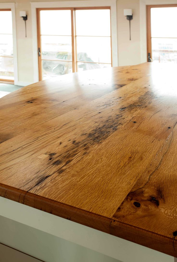 Longleaf Lumber reclaimed oak countertop, custom milled for a home on  Martha's Vineyard, Massachusetts - 37 Best Reclaimed Wood Counters, Tables & Mantels Images On Pinterest
