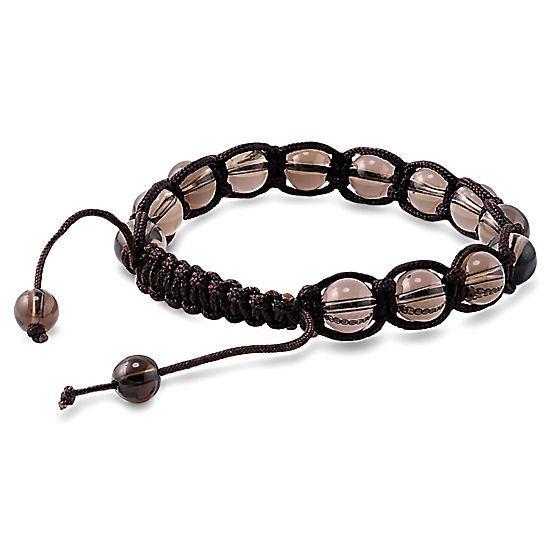 Shamballa Smokey Quartz 08mm: Handcrafted Hip Hop Buddhist Bracelet