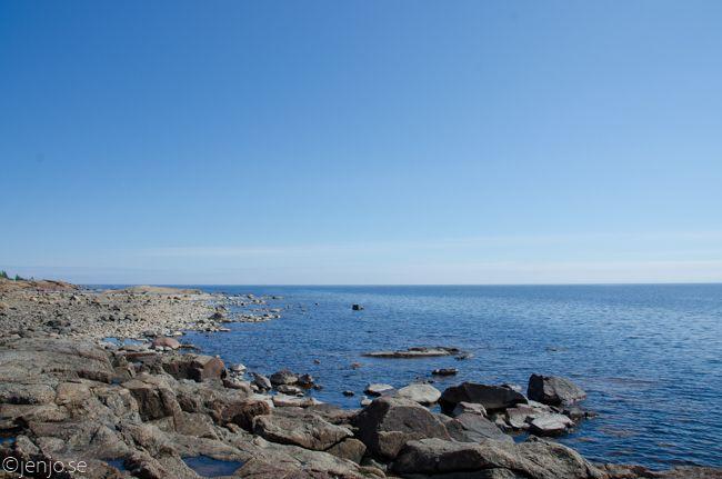 Bortanför fiskelägret på Kluntarna