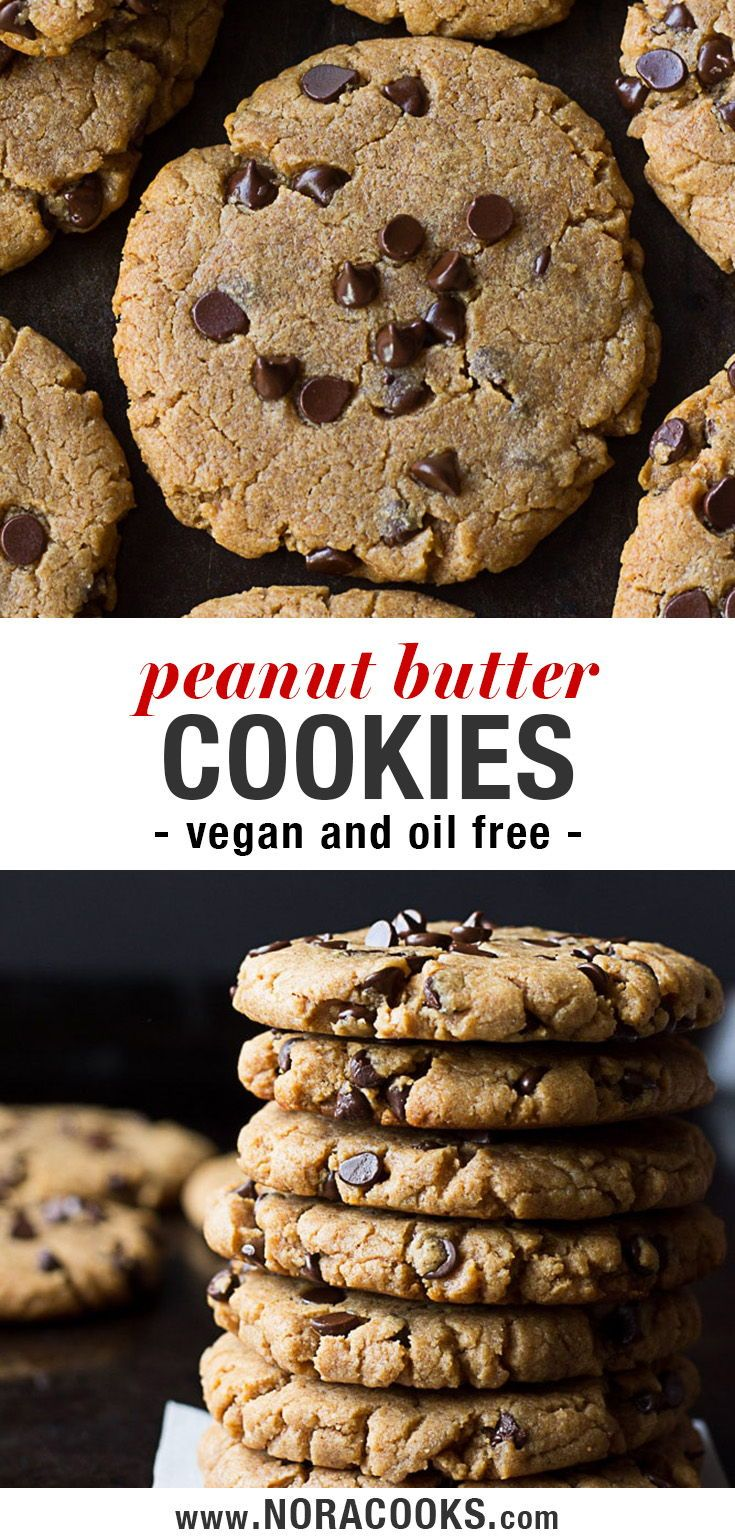 Oil Free Peanut Butter Chocolate Chip Cookies made…