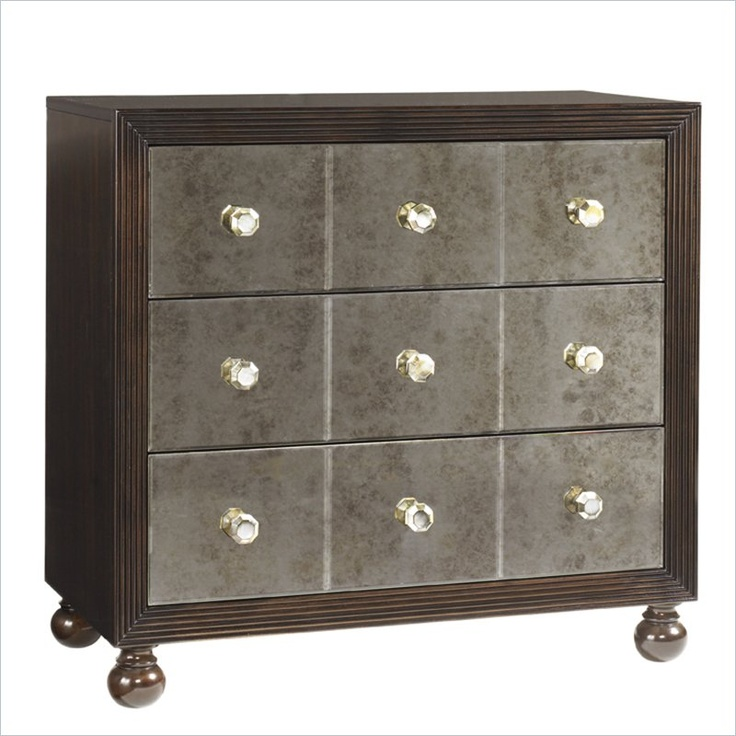 tommy bahama home royal kahala starlight mirrored nightstand
