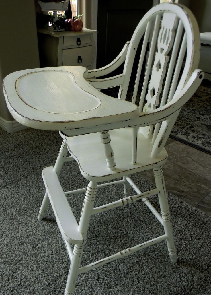 Wonderful Little Bit Of Paint: Refinished Antique High Chair
