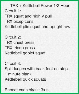 TRX + Kettlebell Power 1/2 Hour Total Body Workout | Fitness | Pinterest |  TRX, Kettlebell and Body workouts.
