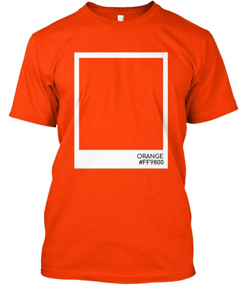 Orange Color Orange Kaos Front