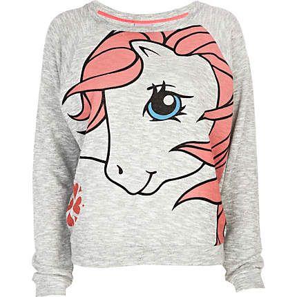 Grey My Little Pony print dolman top #riverisland #mylittlepony #nicolescherzinger