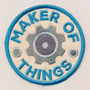 Adventure Merit Badges - Maker of Things (Patch) design (UTZ2264) from UrbanThreads.com