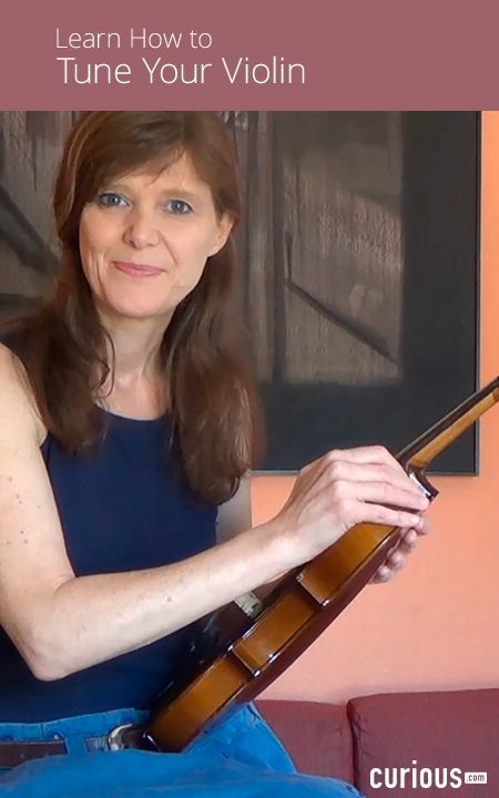 Learn how to tune your violin using both the pegs and the fine adjustors, and how to access the pitch for matching the violin string, online or on a keyboard.