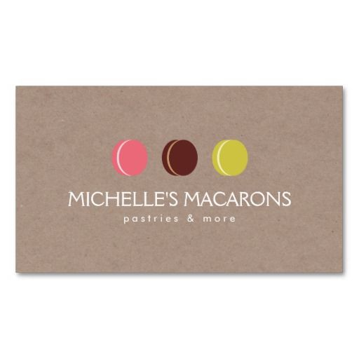 119 best a catering kit images on pinterest business card design macaron cookie trio logo on kraft paper for bakery business card colourmoves