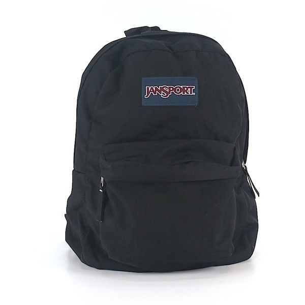 Pre-owned Jansport Backpack: Black Women's Accessories (170 SEK) ❤ liked on Polyvore featuring bags, backpacks, black, daypack bag, jansport rucksack, jansport backpack, pre owned bags and knapsack bag