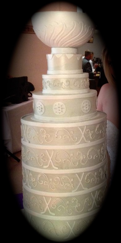 Awesome Stanley Cup Wedding Cake!