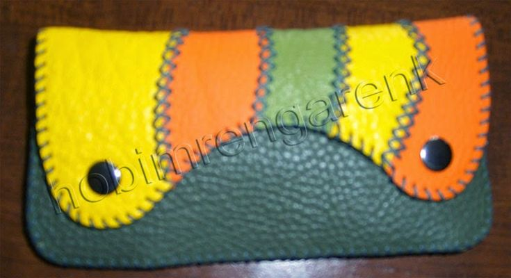 colorful patchwork wallet