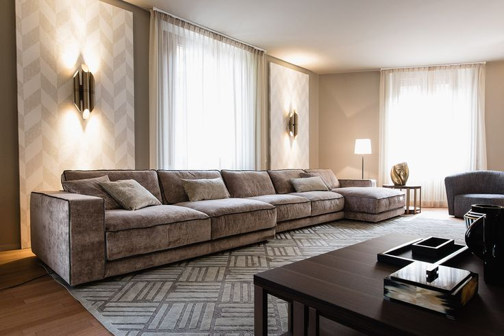 SUITE new comfortable, elegant sofa design Paola Navone for Casamilano home collection. Modular sofa, you can fix it according to your taste, simple sofa, sofa with chaise longue, corner sofa... More on www.casamilanohome.com #casamilano #paolanavone #modularsofa #milan #homecollection