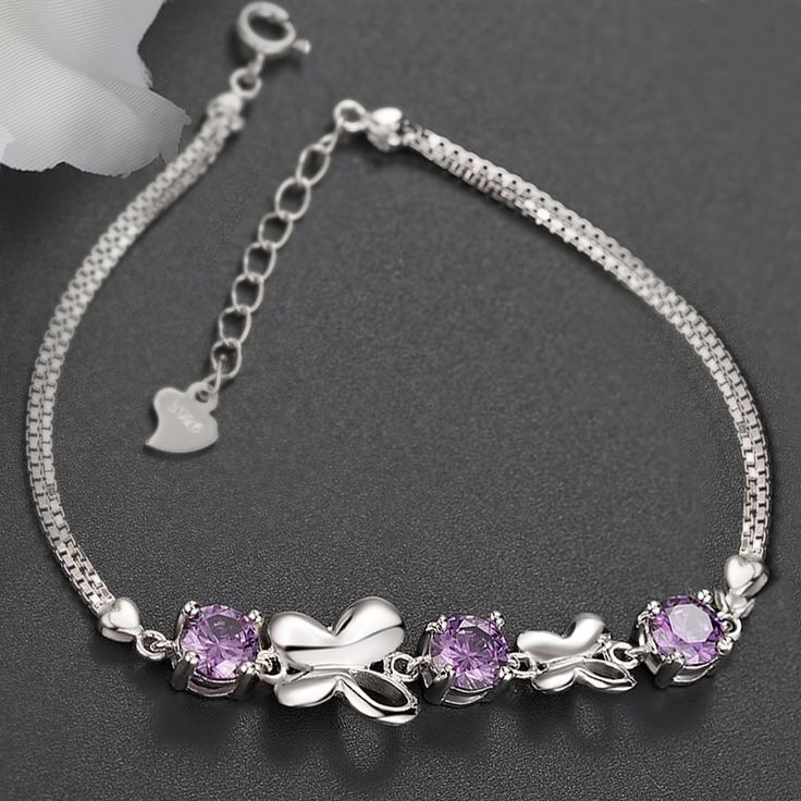 diamond bracelet, silver bracelets for women, charm bracelets for girls